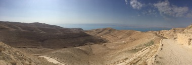 The sweeping view of the Dead Sea from Herod's Palace